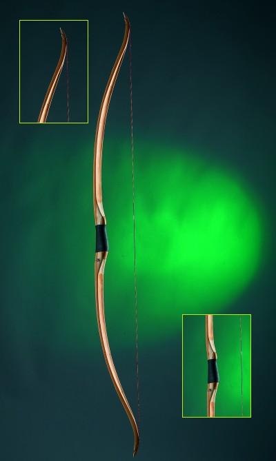 Bambusbelegte Flachbögen